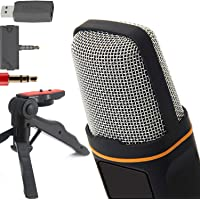 ZaxSound Professional Cardioid Condenser Microphone for PC, Laptop, iPhone, iPad, Android Phones, Tablets, Xbox and…