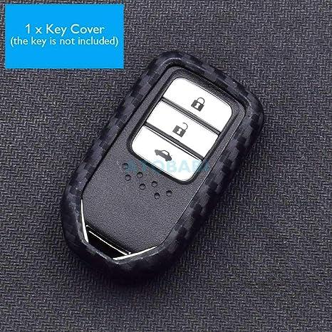 Funda para llave de coche de silicona de carbono para Honda ...