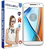 CELLBELL® Tempered Glass Screen Protector For Motorola Moto G4 With FREE Installation Kit