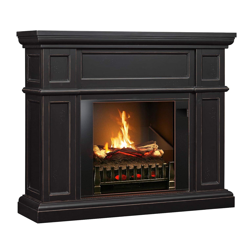 Amazon Com Magikflame Electric Fireplace And Mantel Artemis Dark