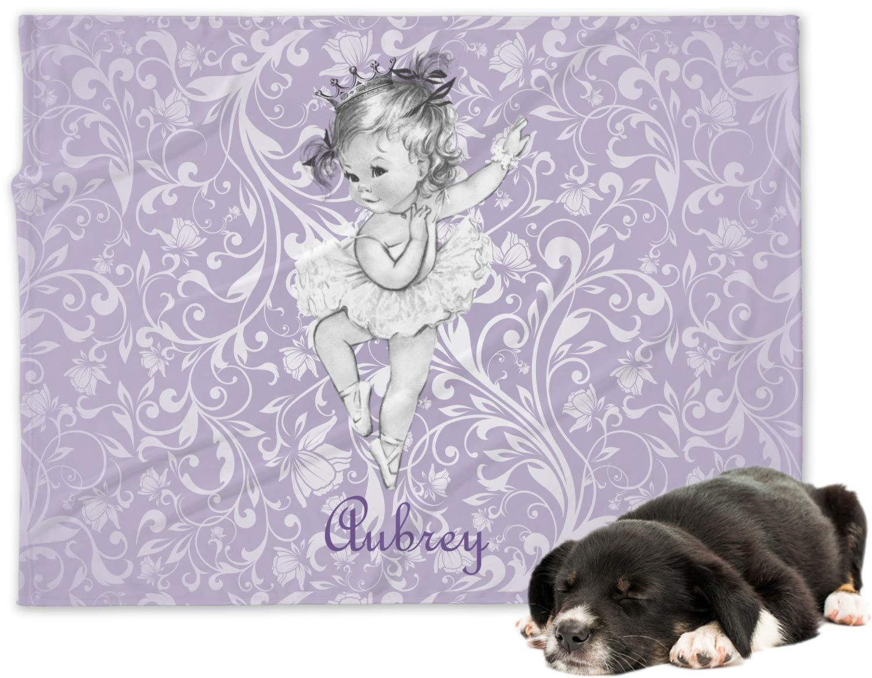 bf1f55b081eb Amazon.com: RNK Shops Ballerina Minky Dog Blanket - Regular (Personalized):  Home & Kitchen