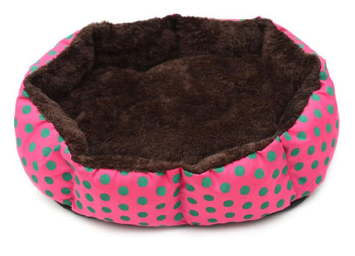 Tnkinuyi Suave Algodón Cama de Perro Lavable Pequeño Nido Octogonal Pit Pit Teddy Cachorro Nido Gato camada 4 Colores 2 Tamaños (S(36 * 30 * 7 cm), ...