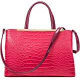 Dasein Frame Tote Top Handle Handbags Designer Satchel Leather Briefcase Shoulder Bags Purses