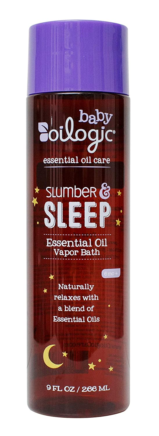 Oilogic Slumber and Sleep Essential Oil Vapor Bath for Babies and Toddlers - Naturally Relaxing Vapors From Essential Oils to Rest And Sleep Easy - 266ml (9 fl oz) : Beauty