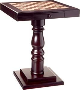 Frenchi Home Furnishing Chess Table with Two Working Drawers