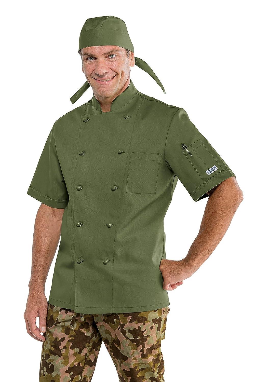 Isacco - Chaqueta de cocinero militar clásica, 65% poliéster, 35 ...