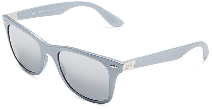 Ray-Ban Junior 0RB4195 601788 52 Gafas de sol, Silver/Grey Silver Mirror Gradient, Unisex-Adulto