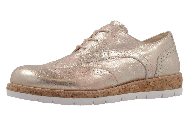 Gabor 62.558.68 - Zapatos de cordones para mujer 42.5 EU|metálico