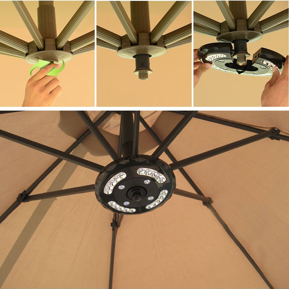 Umbrella Pole Light, ANENER Parasol LED Lights, Outdoor Lights for Easter, Large Size with 24 LED for Patio Umbrellas, Outdoor Use, Camping Tents, etc. (24 LED) by ANENER (Image #6)