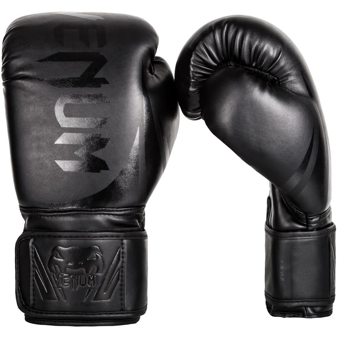 Venum Challenger 2.0 Boxing Gloves - Black/Black - 8-Ounce