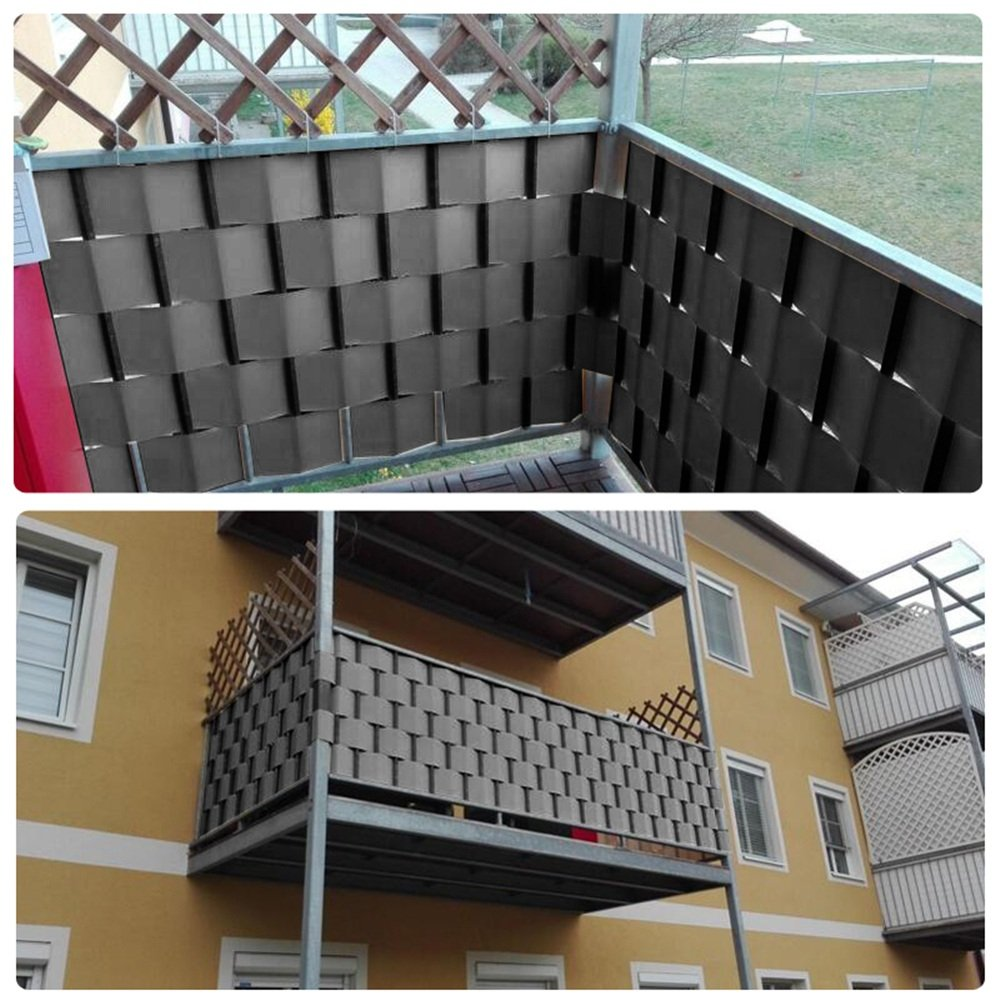 Amazon MCTECH PVC Balkon Sichtschutzstreifen