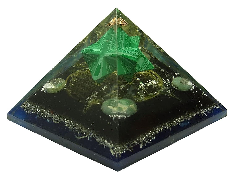 HARMONIZE Multistone Orgone Pyramid Merkaba Flower Of Life Symbol Energy Generator Reiki Healing Crystal