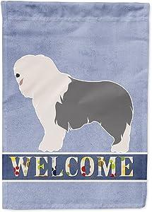 Caroline's Treasures BB8304GF Old English Sheepdog Welcome Flag Garden Size, Small, Multicolor