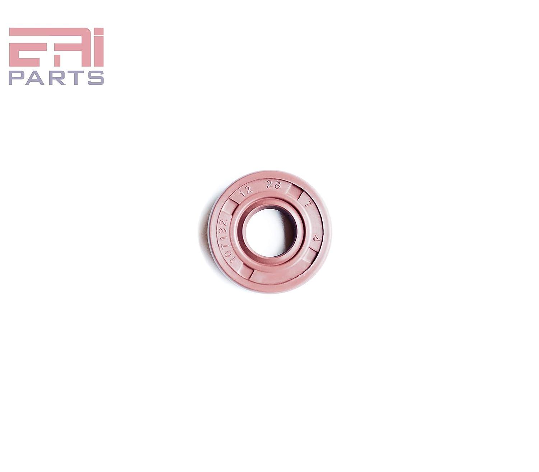 6 PCS Oil Seal 12X24X7 12mmx24mmx7mm Viton Oil Seal Grease Seal TC  EAI Double Lip w//Garter Spring 0.472x0.945x0.276 Single Metal Case w//Viton Rubber Coating