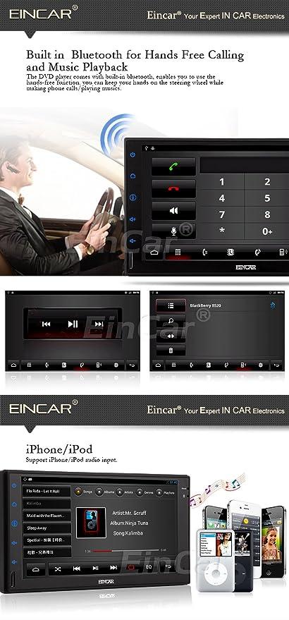EinCar Android 5.1 Navegador GPS de coche NO-DVD Sistema de ...