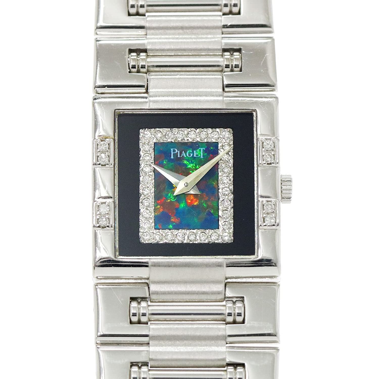 ピアジェ PIAGET ダンサー スクエア 81327 K81 ダイヤ ブラックオパール K18WG メンズ 腕時計 ウォッチ レア 【中古】 90053002 [並行輸入品] B07DRBPR9X