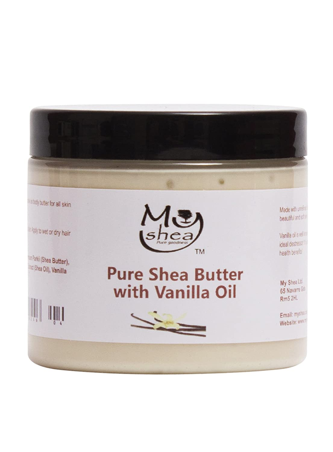 Whipped Organic Unrefined Shea Butter with Vanilla Oil My Shea Limited