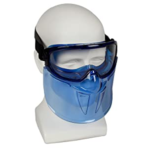Jackson Safety 18629 V90 Goggle and Faceshield, Standard, Clear with Blue Tint