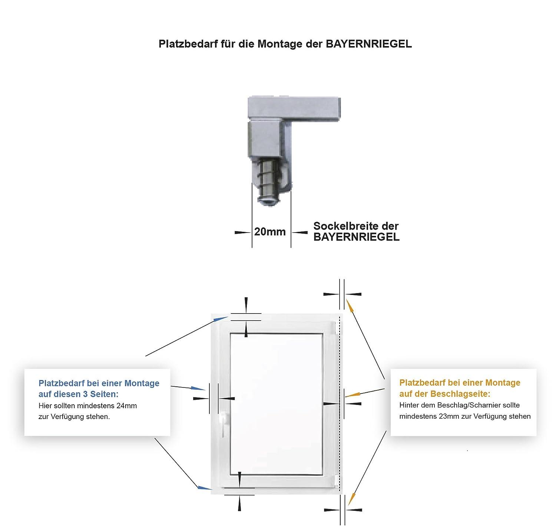 T/ür und Fenstersicherung braun aus Metall Einbruchschutz aus deutscher Markenproduktion