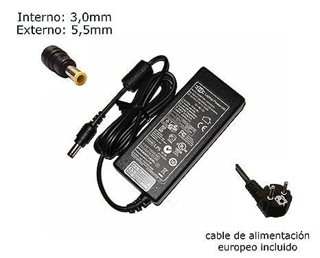Cargador de portátil Samsung R538 R540 R55 R560 R580 R60 Plus R610 R620 R70 R700 Alimentación, adaptador, Ordenador ...