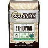 Green Unroasted Coffee Beans, 5 LB. Bag, Fresh Roasted Coffee LLC. (Organic Yirgacheffe Fair Trade)
