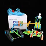 5 Set STEM Kit, DIY STEM Toys DC Motors Electronic Robotic Kit for Kids,Building Science ExperimentsProjects Robot Kits for Boys and Girls