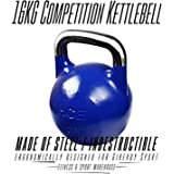 HCE Competition Kettlebell 16kg Professional Grade Steel Russian Kettlebell Weights Ideal for Home Gym Fitness & Sports Workout, CrossFit, MMA, Body Building, Power Weightlifting, Snatches, Squats, Lunges, Bench Press