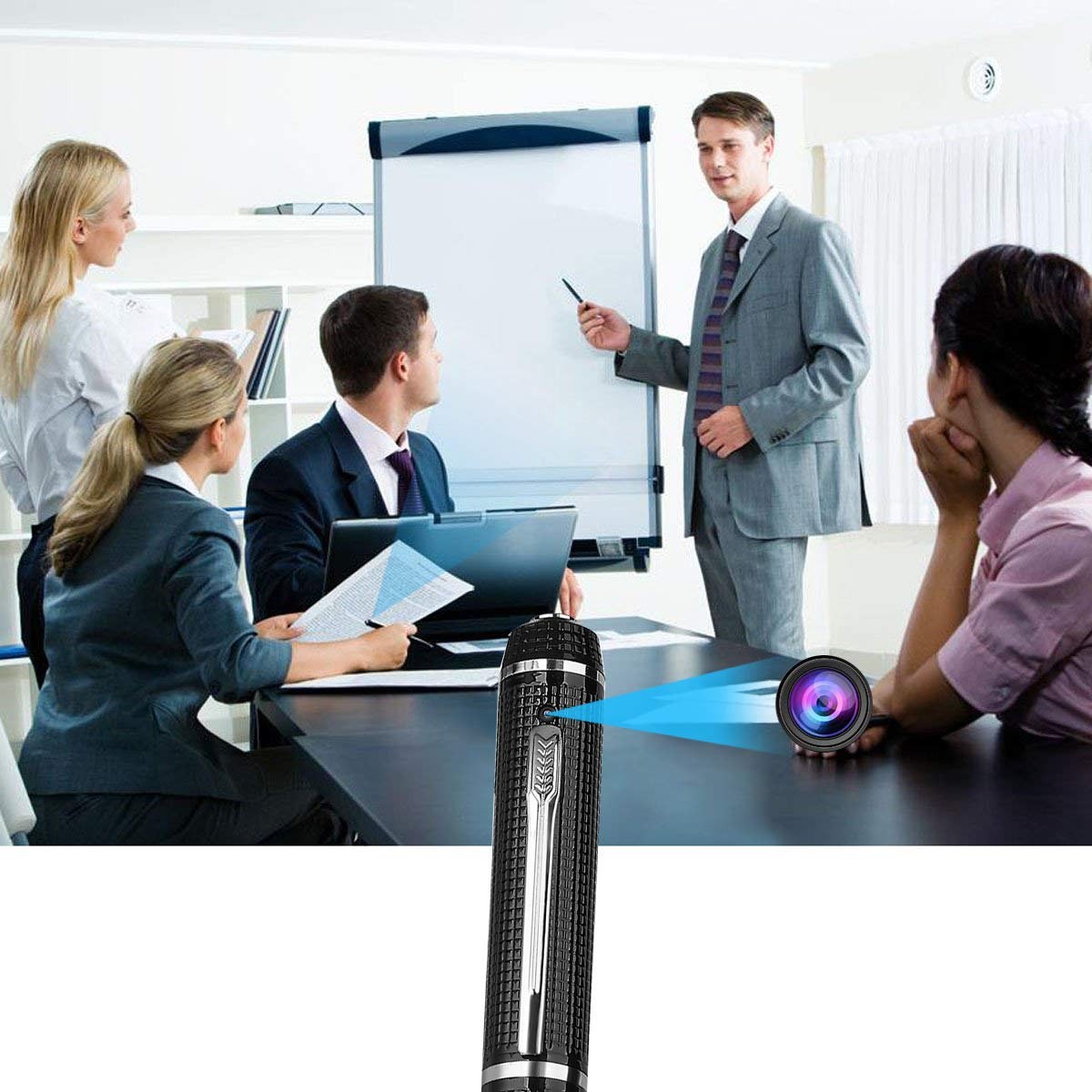 Hidden Spy Pen Camera,HD 1080P Camcorder Portable Pocket Cam Covert Camera Built in 16GB Memory Card