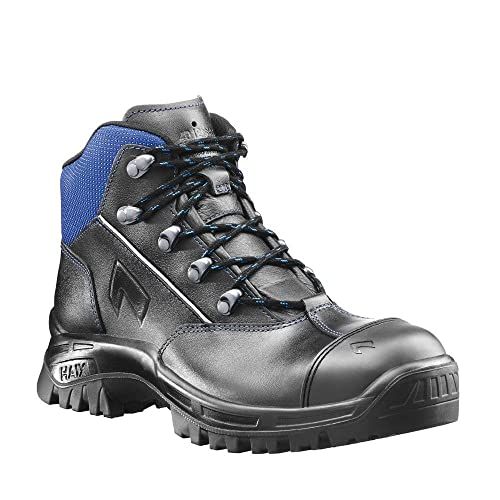 Haix Airpower X10 S3-Boot With Blue Applications and Kevlar  Perforation-Proof Protection.