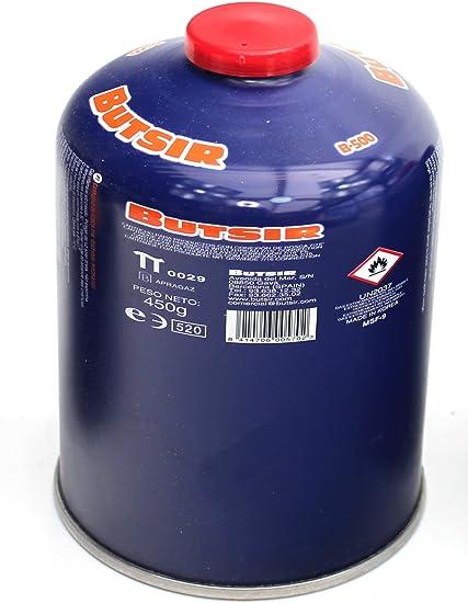Butsir B-500 cartucho de gas 450 gr – bombona perforable con limitador de fugas – botella camping gas Envio 24Horas