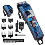 Professional Cordless Hair Clippers Beard Trimmer For Men Kids Wireless Hair Cutting Kit Set with Taper Lever, Rechargeable L