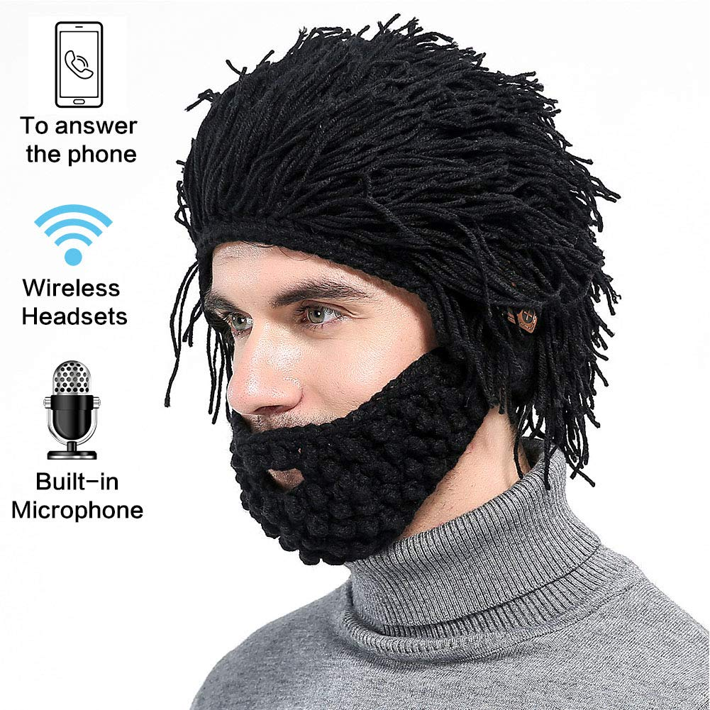 967d0b73a6c20 Bluetooth Knit Beard Hats Beanie