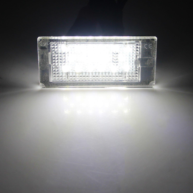 Win Power LED posteriore luci targa barra di accoppiamento bianco nessun errore lampadine 18 SMD,2 Pezzi