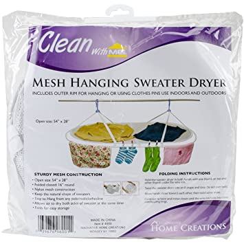 Mesh Hanging Sweater Dryer White 54 X 28 Open Amazon De Kuche