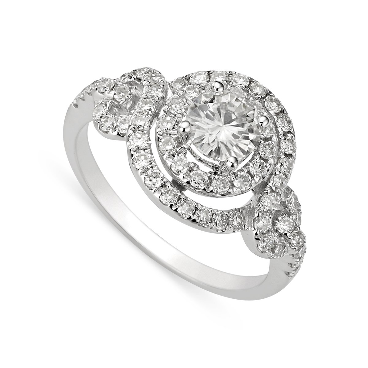 Round Brilliant Cut 5.5mm Moissanite Ring - size 7, 1.18cttw DEW By Charles & Colvard by Charles & Colvard