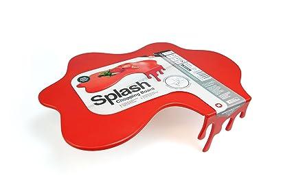 Cutting Chopping Board Worktop Saver - Red Splash