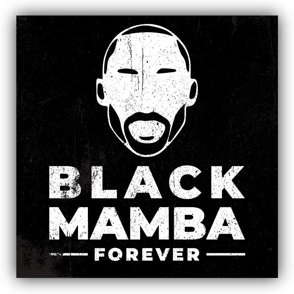 Los Angeles Sticker Art Decal Zirni Koby Bryant Black Mamba Forever Face Lakers Basketball