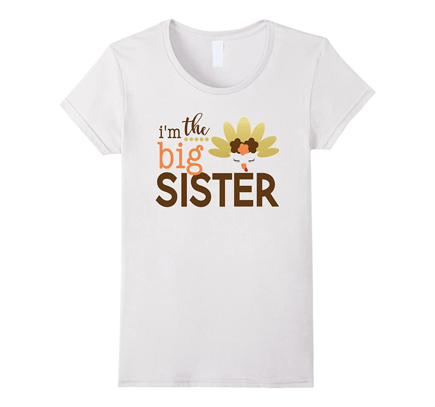 Big Sister Thanksgiving Shirt, Girls Thanksgiving Outfit-FL