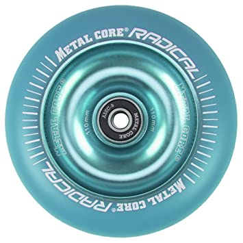 Metal Core Rueda Radical Monocromática para Scooter Freestyle, Diámetro 110 mm (Azul): Amazon.es: Deportes y aire libre