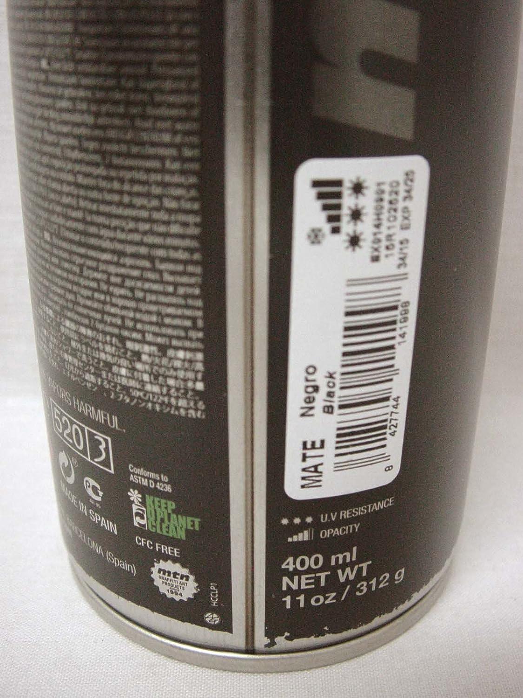 Pintura en spray MTN HC2 Negro Mate 400ml: Amazon.es: Coche y moto