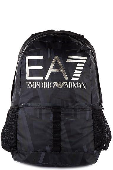 Emporio Armani EA7 men s Nylon rucksack backpack travel train visibility  black  Amazon.co.uk  Shoes   Bags 09bfa83978a43