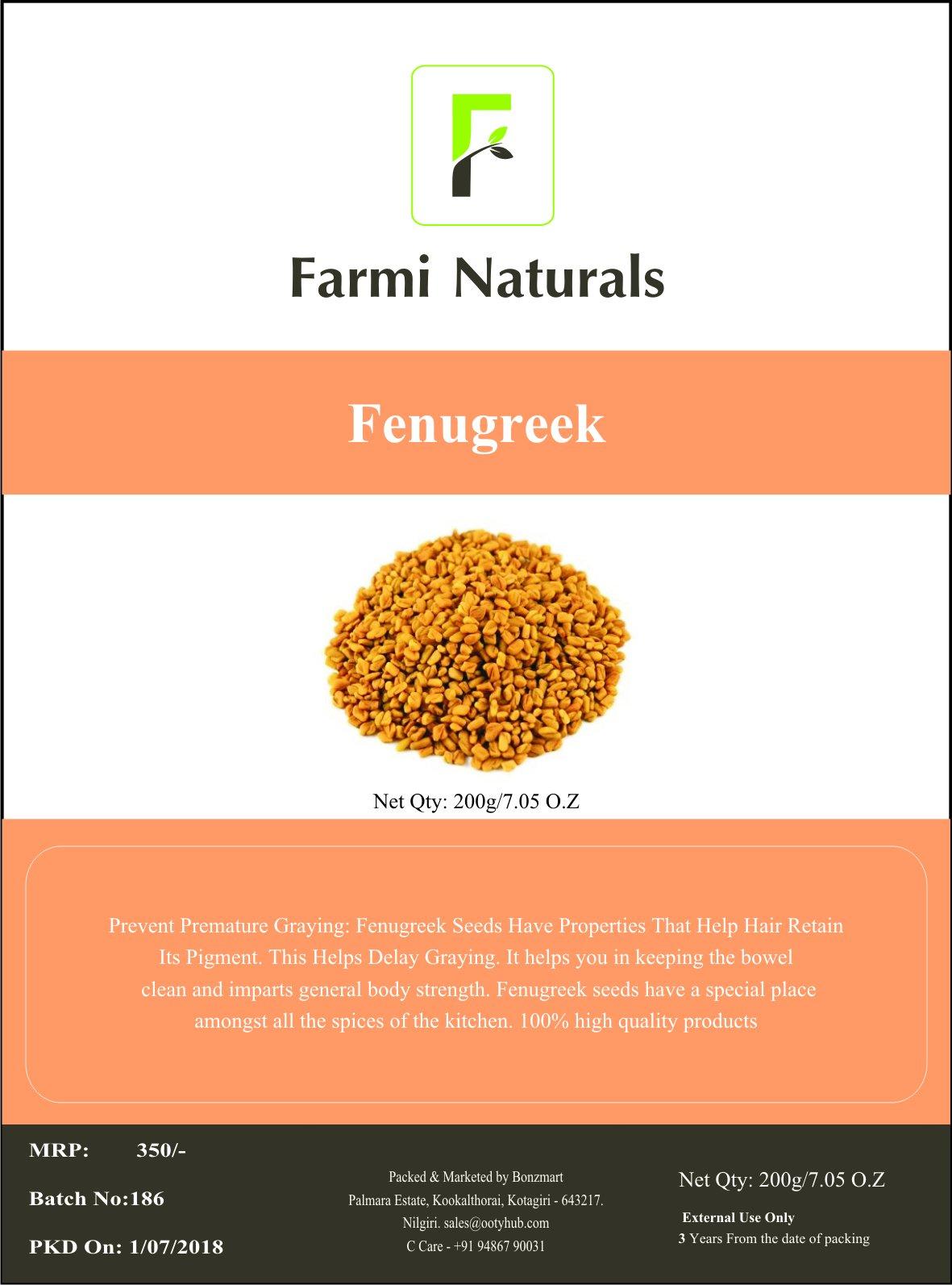 Fenugreek Seed Indian Spices - 200g,Trigonella foenum-graecum, Methi