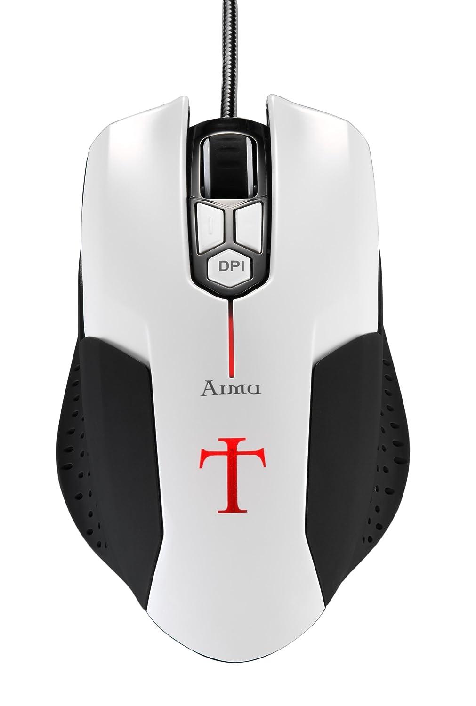 Aerocool EN54577 - Ratón Gaming (USB, óptico), Blanco