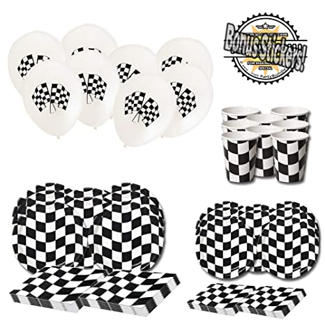 Amazon Com Checkered Flag Party Supplies 72 Pieces Nascar