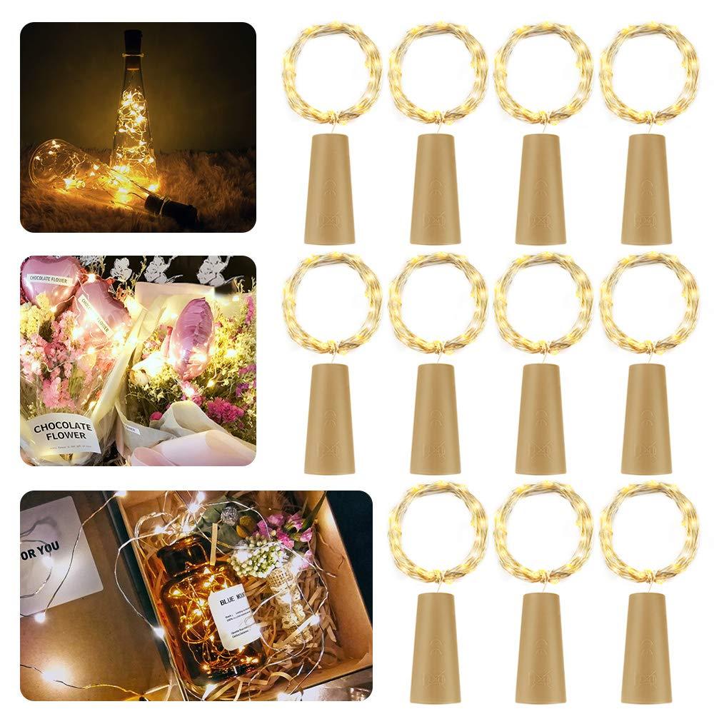 LED Flaschen-Licht,【11 Stück】20 LEDs 2M Kupferdraht Lichterkette ...