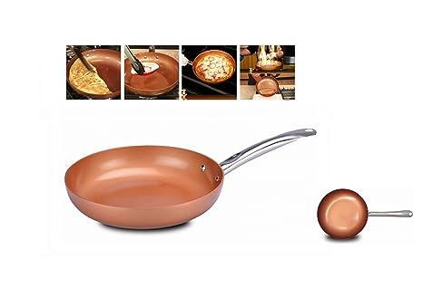 Sarten antiadherente con particulas 100% de cobre anunciada en TV diametro 26cm aluminio con recubrimiento ...