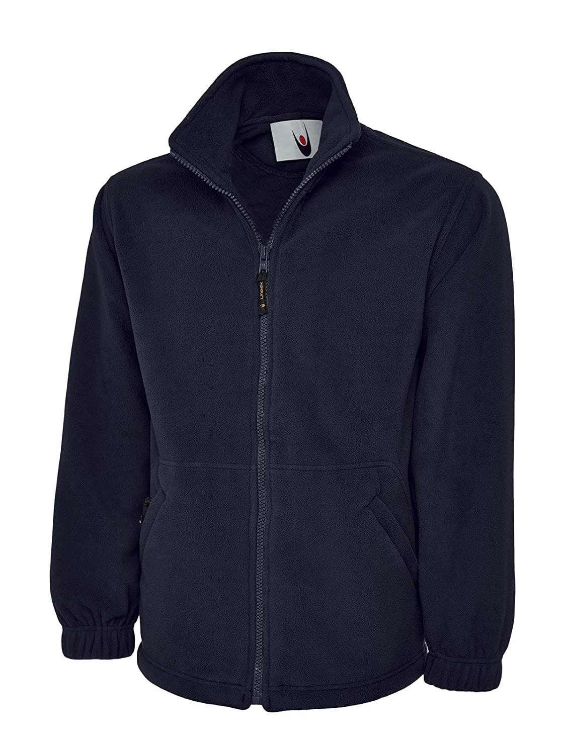 Uneek Clothing-mens-Classic Full Zip Micro Fleece Jacket-300 gsm-Navy-2XL Starlite 604NY2XL