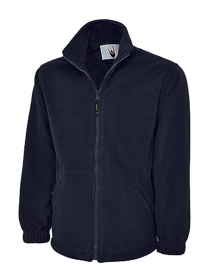Chaqueta Uneek, de forro polar, para hombre, de alta calidad, con cremallera completa, 380 g/m², color azul marino, tamaño XXL/ 122 cm