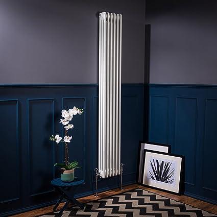 Bern Radiador Calefactor Diseño Vertical Vintage 1800 X 290 mm radiador blanco 1367 W