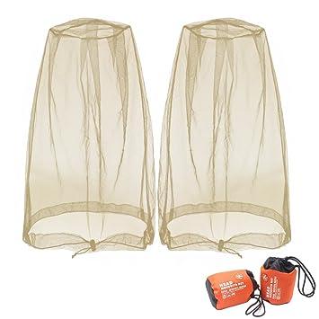 Benvo - Máscara Protectora de Malla para la Cabeza de mosquitera de Insectos  y Abejas para 3c46ab4e4fe
